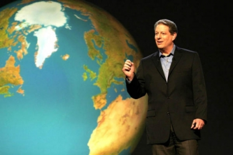 Al Gore lectures on environment
